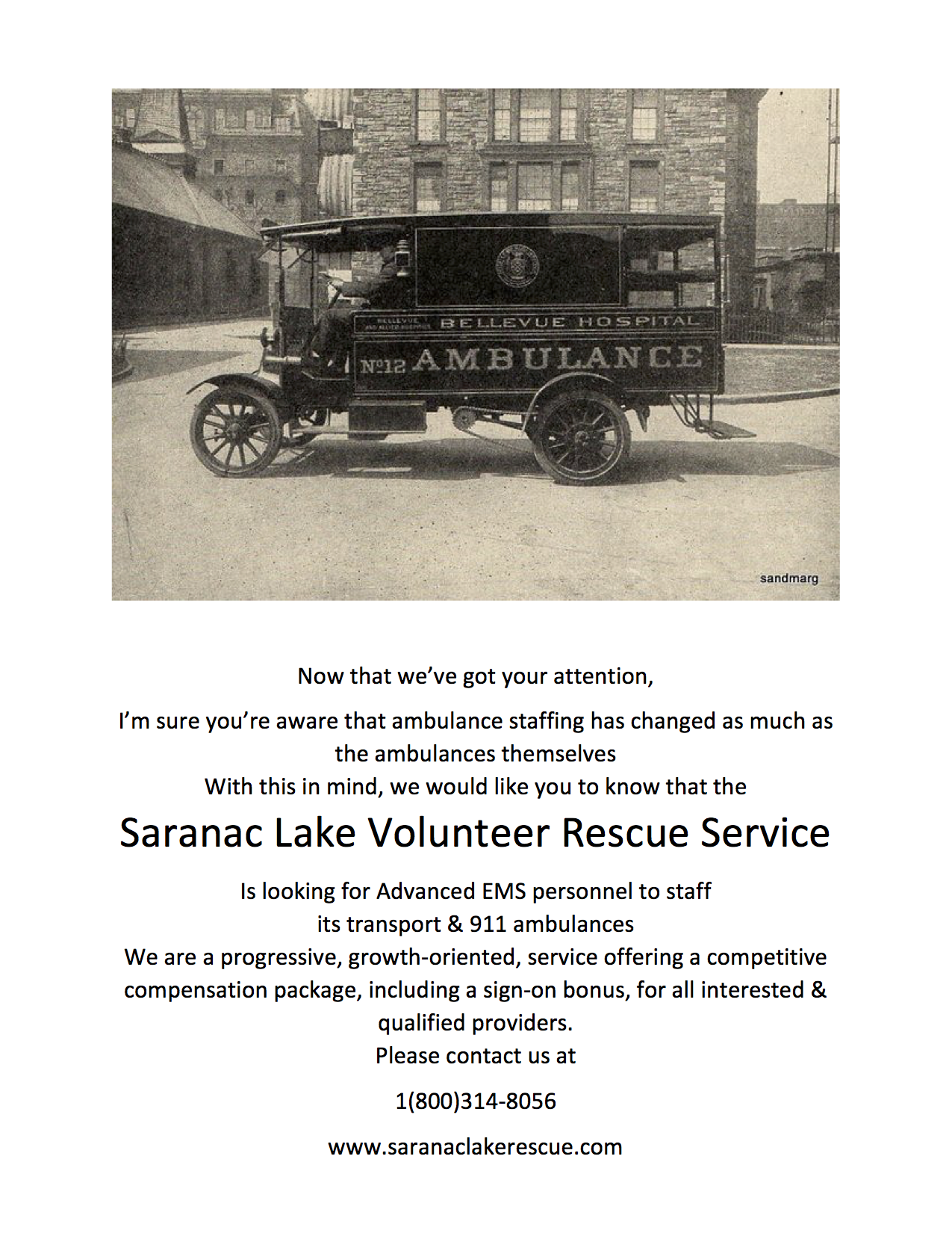 help wanted in saranac lake - mountain lakes regional ems council